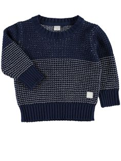 MINI NITVIELS KNITTED TOP, Dress Blues