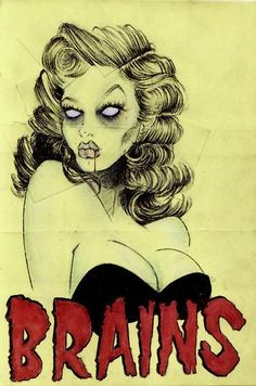 I love me an awesome zombie pin up, but she doesn't look very zombie-ish...