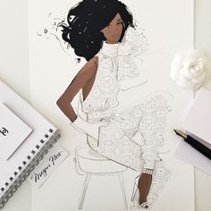 Megan Hess в Instagram: «JUST LAUNCHED! My new Limited Edition Print Collection: ENCHANTED is now available exclusively from: MEGANHESS.COM 6 original illustrations in the Collection - only 25 prints per design! This collection has been on my studio desk for 18 months - I wanted it to be my most elegant and inspiring collection of women - all dressed with delicate white lace and beauty that is nothing but enchanting. This print is titled: Oscar Jumpsuit»