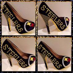 af05874859c0 Custom Pittsburgh Steelers Rhinestone Heels