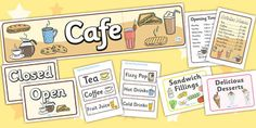 Cafe Role Play Pack - Cafe, shop, role play, price, prices