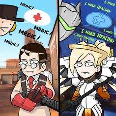 Team Fortress 2 overwatch - This tips was distribute at by Team Fortress 2 overwatch Down Overwatch Comic, Overwatch Memes, Overwatch Tips, Tf2 Funny, Funny Comics, Team Fortress 2 Medic, Overwatch Community, Valve Games, Tf2 Memes
