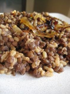 Lentils and Rice w/ Fried Onions, from RiceOfLife