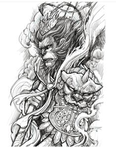 db844ee58c38e 68 Best Sun Wukong images in 2018 | Monkey king, King tattoos, Asian ...