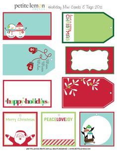 Free Printable Christmas Gift Tags and Labels Round Up - HUGE list of cute designs for holiday gifts!