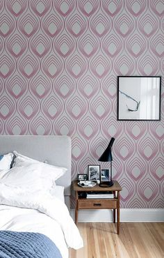 Self adhesive vinyl wallpaper wall decal  Ogee wall by Betapet