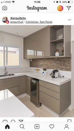 Ideas Kitchen Tiles Beige Cabinets For 2019 Kitchen Room Design, Kitchen Cabinet Design, Home Decor Kitchen, Interior Design Kitchen, Home Kitchens, Kitchen Furniture, Kitchen Modular, Modern Kitchen Cabinets, Small Modern Kitchens