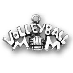 Sterling Volleyball Mom CharmI Love Volleyball by JSueSelling, $10.00