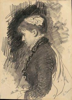 Ilya Repin, 1844 - 1930 Life Drawing, Figure Drawing, Drawing Sketches, Painting & Drawing, Art Drawings, Sketching, Ilya Repin, Unique Drawings, Academic Art