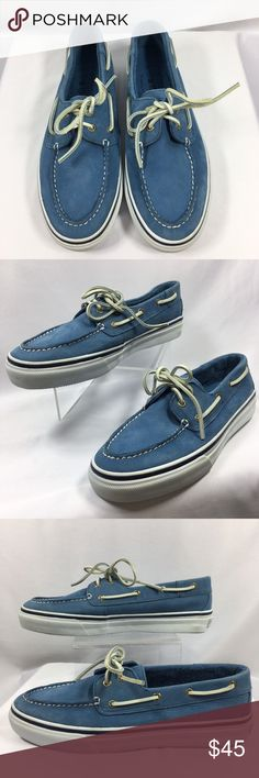 SPERRY Top-Sider Men's Light Blue Boat Shoe 10M US SPERRY Top-Sider Bahama Men's Shoes- Dress or Casual   Washable Leather   Product Feature:  • Material: Leather  • Shoes Type: Boat  • Closure Type: Lace-up  • Color: Blue   • Accents: Washable nubuck vulcanized construction  • Signature Details: Printed signature logo details on back rubber sole  • Style #/Model: 1048594  Condition: Gently Pre-Owned- Light Wear, See Pictures and Description for Details Sperry Shoes Boat Shoes