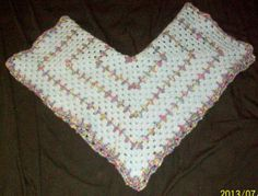 Baby blue and Monet Hexagon shaped receiving blanket by dnjcrafts, $25.00