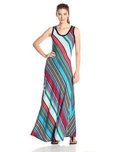 Calvin Klein Women's Printed Stripe Maxi Dress, Multi, 2 Calvin Klein http://www.amazon.com/dp/B00R2W989S/ref=cm_sw_r_pi_dp_yej.ub0C57PBG