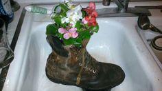 Daddies work boots planter