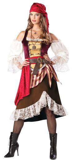 Traje adulto de lujo Marinero de cubierta de Darling - Disfraces de pirata