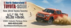 #AllNewTacoma #NorthBakersfieldToyota #AquaGraphics
