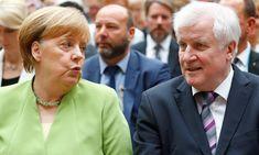 Image copyright Reuters Image caption Angela Merkel (left) and Horst Seehofer (right) will hold crisis talks later on Monday Germany's interior minister has… Interview, Image Caption, Videos, Germany, Christian, Berlin, Books, Self, Angela Merkel