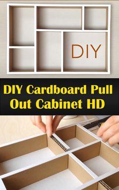 DIY Cardboard Pull Out Cabinet HD Cardboard Box Storage, Cardboard Drawers, Cardboard Organizer, Diy Cardboard Furniture, Diy Storage Boxes, Cardboard Crafts, Diy Gift Box, Diy Box, Under Bed Shoe Storage