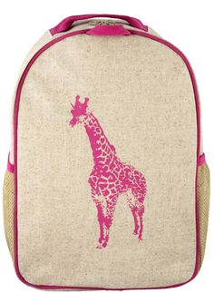 Pink Giraffe Toddler Backpack - SoYoung - eco-friendly bags and accessories  for the modern family - designed in Canada bd6dd8c7e21ad