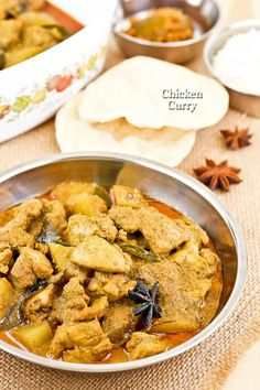 Classic Malaysian Chicken Curry using convenient premixed curry powder and whole spices. Delicious served with flat breads and rice. Spicy Recipes, Curry Recipes, Seafood Recipes, Indian Food Recipes, Asian Recipes, Chicken Recipes, Cooking Recipes, Healthy Recipes, Ethnic Recipes