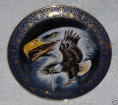 Vtg Royal Doulton Profile of Freedom Eagle Plate Patriotic Valley Forge Dish USA