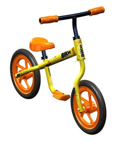 Training wheels are a thing of the past with this cool balance bike. The low-riding, two-wheeled vehicle teaches small cyclists how to balance without the fear of major falls and skinned knees. Young riders just push themselves along and can lift their feet once they've got a feel for their center of gravity or put them on the ground if they feel off-balance. This revolutionary system streamlines the way kids learn how to ride a bike and gets those outdated train...