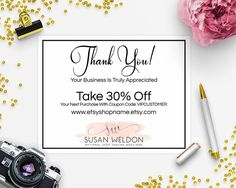 Business Thank You Card Template Makeup Artist With Stripes & Gold Stamp Square Business Card .