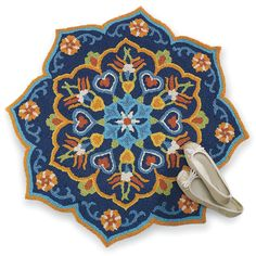 Turkish Medallion Hand Hooked Rug from Expressions.com