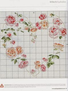 39 - galbut - Picasa Albums Web by alissa Just Cross Stitch, Cross Stitch Heart, Cross Stitch Borders, Cross Stitch Flowers, Cross Stitch Designs, Cross Stitching, Counted Cross Stitch Patterns, Cross Stitch Embroidery, Rosa Shabby Chic