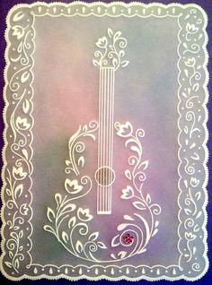 guitar. I am going to try this in quilling for my Dad's birthday.