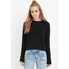 Forever 21 Forever 21 Women's  Fuzzy Knit Sweater ($18) ❤ liked on Polyvore featuring tops, sweaters, fuzzy sweater, forever 21 sweaters, forever 21, lightweight sweaters and forever 21 tops