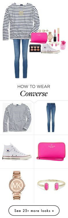 """""""Really need some white converse"""" by ravenpen on Polyvore featuring Calvin Klein, Saint James, Kate Spade, Converse, Lord & Taylor, Kendra Scott, Michael Kors, MAC Cosmetics, Stila and Victoria's Secret"""