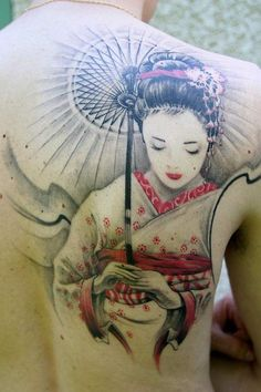 Geisha Tattoos are loved by the people who love Japanese culture. A geisha tattoo is often featured by a geisha girl dressed in colorful traditional Body Art Tattoos, Tattoos, Japanese Tattoo Designs, Art Tattoo, Geisha Tattoo Design, Back Tattoo, Beautiful Tattoos, Small Meaningful Tattoos, Tattoo Designs
