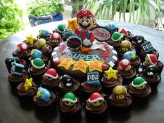 supermario cake for Mel's birthday