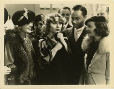 "Carol Lombard in a scene announcing her phoney engagement to spite ""Godfrey"" in My Man Godfrey."