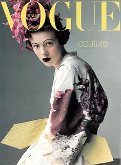 Vogue Italia, March 1997 Couture Supplement #cover | Karen Elson by Steven Meisel | Makeup by Pat McGrath -repinned by San Francisco photography studio http://LinneaLenkus.com  #photographers