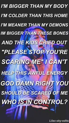 This is my favorite Halsey song Halsey Songs, Lilac Sky, Artist Quotes, Marina And The Diamonds, My Demons, I Am Scared, Lyric Quotes, Music Lyrics, Bands