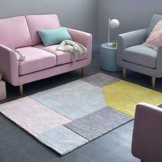 Tapis coton tufté graphique, 2 tailles, Dario La Redoute Interieurs | La Redoute Mobile