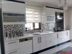 Mevlide hanımın aydınlık ve ferah evi. - Fair Tutorial and Ideas Modern Kitchen Cabinets, Kitchen Cabinet Design, Kitchen Furniture, Home Furniture, Baby Crib Designs, Modern Bedroom Decor, Cuisines Design, Large Homes, Big Houses