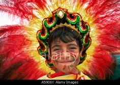 England, London, Carnaval Del Pueblo Festival (Europes largest Latin Street Festival), Boy in Bolivian Festival Costume © Jon Arnold Images Ltd / Alamy