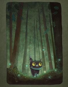 Mira las pequeñas grandes aventuras de un gato perdido en el bosque
