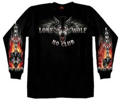 Hot Leathers Lone Wolf No Club Biker Long Sleeve Double Sided T-Shirt (Black, X-Large) http://bikeraa.com/hot-leathers-lone-wolf-no-club-biker-long-sleeve-double-sided-t-shirt-black-x-large/