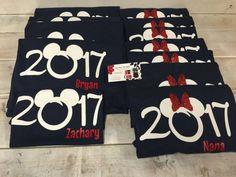 2016 OR 2017 Disney Trip Family Matching Shirts by CutFromTheHeart Disney Vacation Shirts, Disney Shirts For Family, Disney Vacations, Disney Trips, Disneyland Shirts For Family, Vacation Trips, Vacation Ideas, Disney Diy, Disney 2017