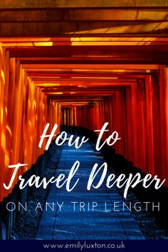 How to travel deeper. 9 tips for getting beneath the skin of a destination with deep travel - no matter how long your trip is! Travel Tours, Travel Advice, Travel Guides, Airfare Deals, Round The World Trip, Photography Tours, Travel Dating, Short Trip, Travel Images