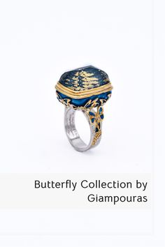 Butterfly ring #butterflyring #enamelring #gemstone Titanium Jewelry, Butterfly Ring, Small Business Marketing, Class Ring, Promotion, Fashion Accessories, Rings For Men, Enamel, Gemstones