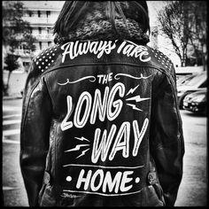 handpainted motorcycle jacket | brusco