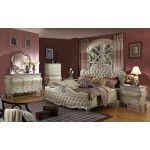 McFerran Home Furnishings - Bordeaux 4 Piece Bedroom King Bed Set in Antique White - B8301-EK-4SET