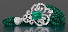 Garrard | The Court Jeweller Part of the company's high jewelry line, this Emerald and Diamond Bracelet pairs diamonds with emeralds sourced from Colombia and Zambia