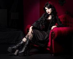 Model: Lady Kat Eyes Photographer: Digitalbeautystudio Dress: DarkinCloset Welcome to Gothic and Amazing |www.gothicandamazing.com