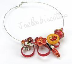 Collier sur câble avec boutons, perles magiques, céramique, en résine, sangle en silicone, poupée kokeishi : Collier par joelesbiscottos