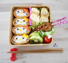 Hello Kitty Sushi bento - my kiddos probably wouldn't actually eat this, but they'd love it anyway.